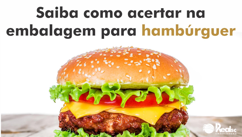 embalagem para hamburguer